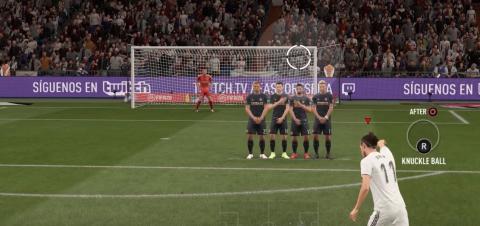 Cómo tirar faltas en FIFA 20 con efecto