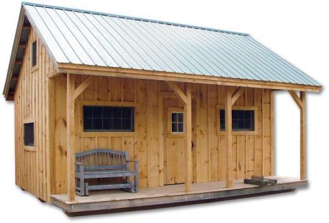En contraste, este modelo de 37 metros cuadrados de Vermont Cottage llevaría unos 40 minutos construirlo, según su vendedor, Jamaica Cottage Shop.