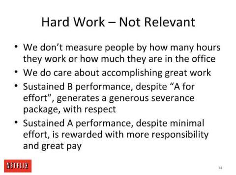 Cultura en Netflix: hard work, not relevant