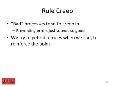 Cultura en Netflix: Rule Creep
