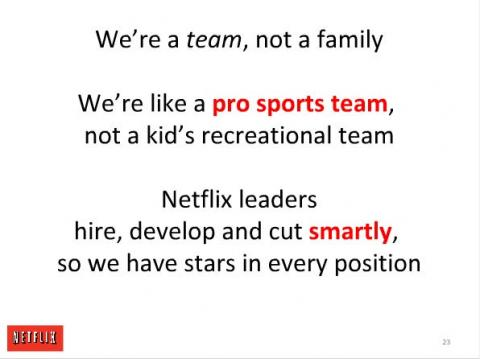Cultura en Netflix: team, not family