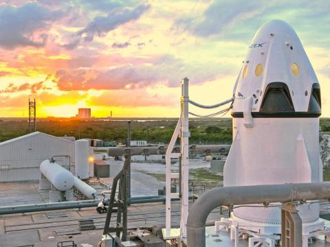 La cápsula Crew Dragon de SpaceX.
