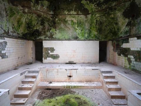 Una casa de baños en el balneario de Tskaltubo.