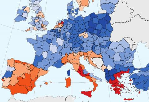 España Mapa recuperación