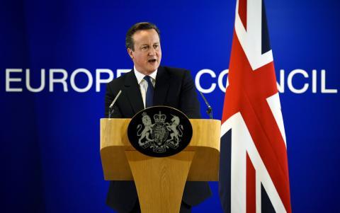 El ex primer ministro británico, David Cameron