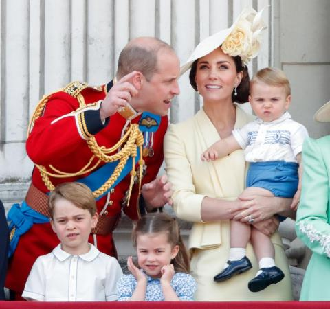 The event marked Prince Louis' first royal appearance, and the little one didn't look too impressed as he watched with his parents from the Buckingham Palace balcony.