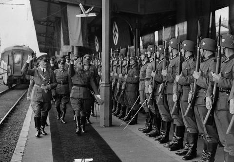 Franco y Hitler en Hendaya (Francia)