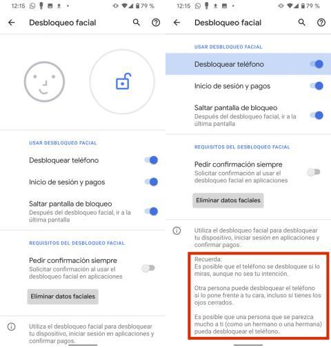 Google Pixel 4 XL desbloqueo facial