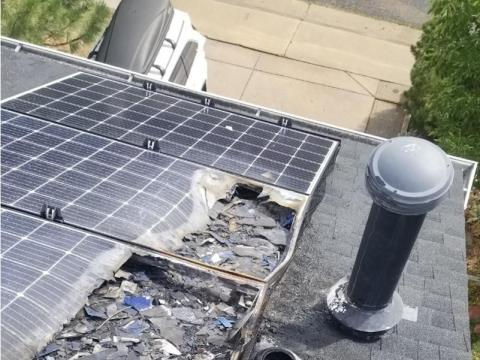 Greer's roof.