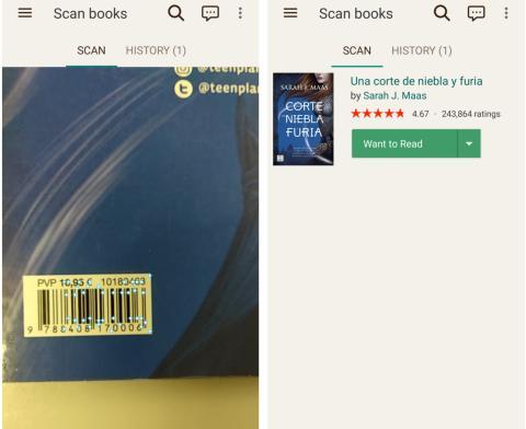 La cámara tiene un escáner que reconoce los libros al instante.