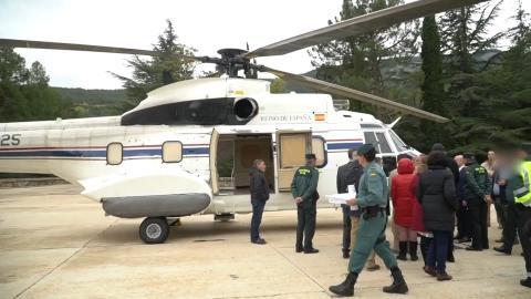 El helicóptero en el que posiblemente se traslade a Franco tras su exhumación del Valle de los Caídos.
