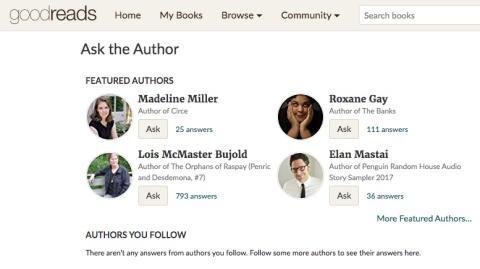 La app te avisa cuándo puedes hacer preguntas a los escritores que sigues.