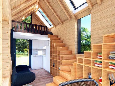 El interior de esta pequeña casa de Nemah, con un precio de 45.000 euros aproximadamente, parece sacada de un programa de televisión real de HGTV.