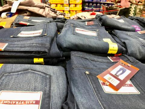 It takes about 2,000 gallons of water to produce a pair of jeans. That's more than enough for one person to drink eight cups per day for 10 years.