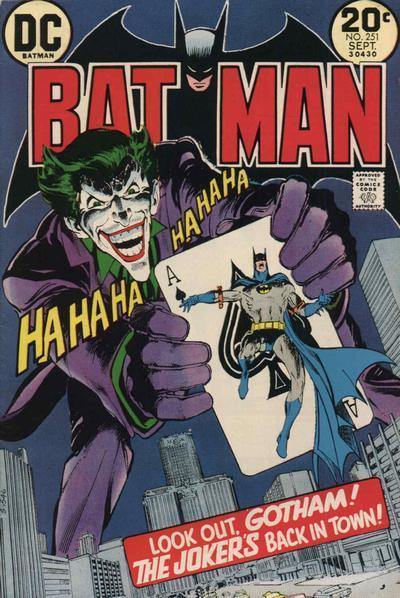 El Joker en la portada de Batman Nº251
