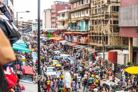 Calles de Lagos, Nigeria
