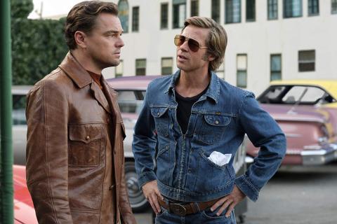 Leonardo DiCaprio y Brad Pitt en Érase una vez en Hollywood