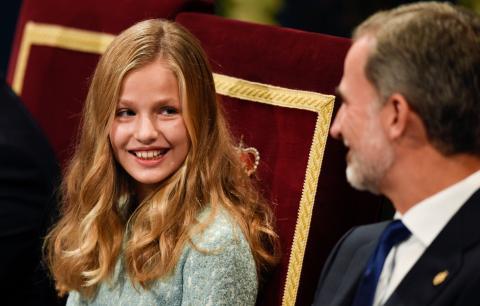 Leonor de Borbón, durante la entrega de los premios Princesa de Asturias 2019.