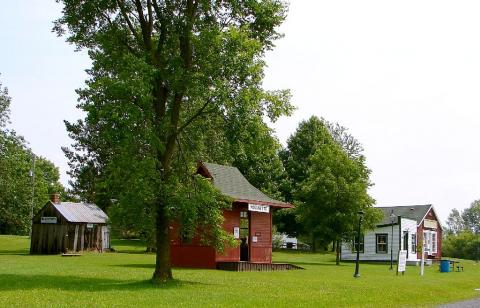Vista del museo Lost Villages Museum.