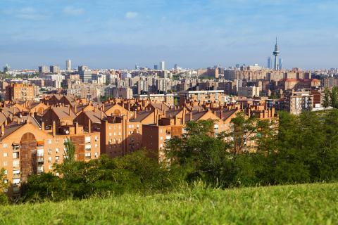 Madrid, vista desde el distrito de Vallecas.