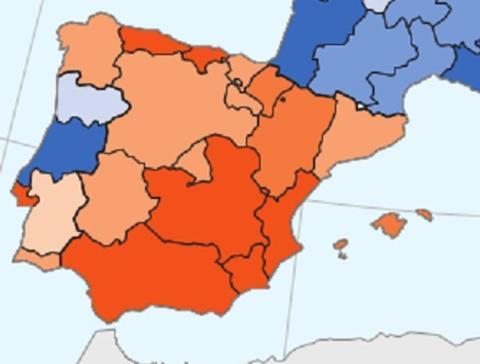 Mapa de la recuperación española tras la crisis de 2008
