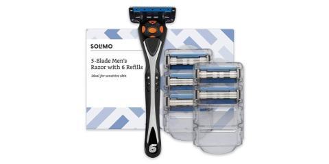 Máquinas desechables de Solimo con 6 recambios para el afeitado