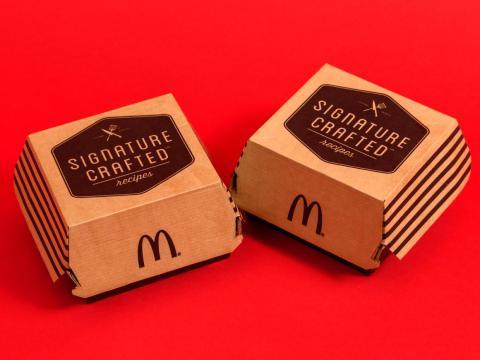 La empresa eliminó las McDonald's Signature Crafted.