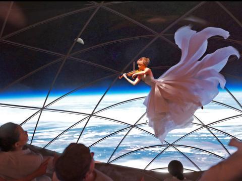 Un renderizado de SpaceX.