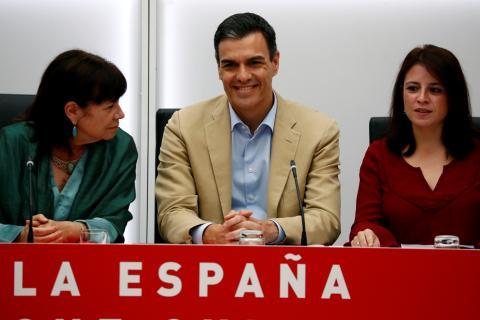 Pedro Sánchez, en un acto justo después del 28A.