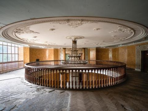 Inside one of the Soviet-era sanatoriums.
