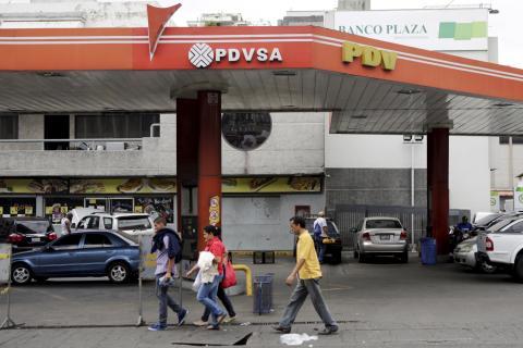 Una estación de servicio de Petróleos de Venezuela S.A.