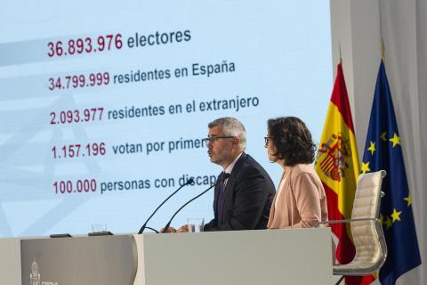 Presentación del dispositivo electoral del 28-A.