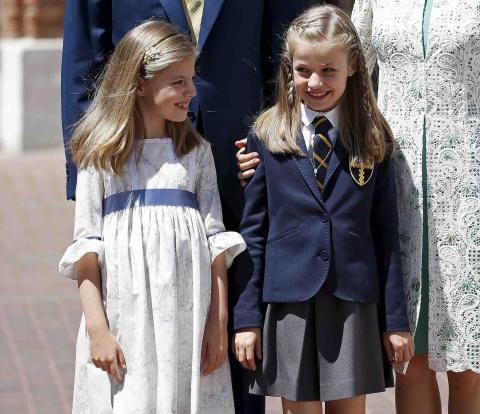 La princesa Leonor el día de su primera comunión.