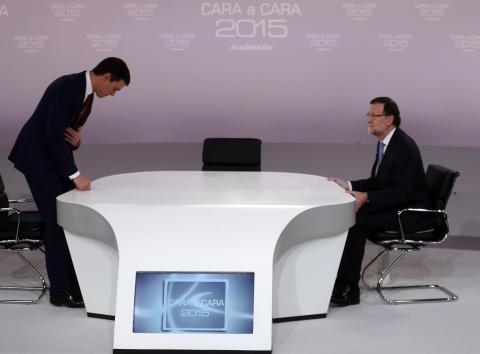 Rajoy Sánchez debate 2015