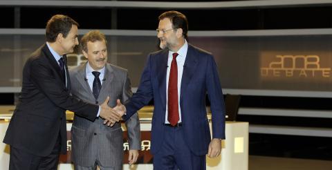 Rajoy y Zapatero debate 2008