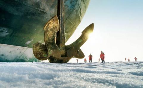 En un rompehielos al Polo Norte