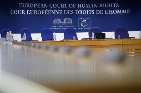 Una sala del Tribunal Europeo de los Derechos Humanos de Estrasburgo.