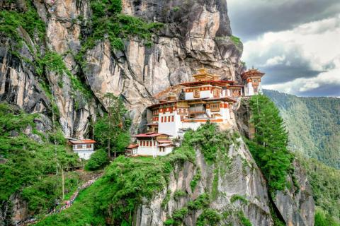 Bhutan's Taktshang Goemba or Tiger's nest Temple.