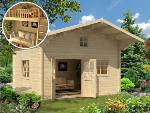 Algunas de estas casas diminutas vienen con áreas elevadas, escondidas en el área triangular donde el techo se inclina hacia abajo, para aprovechar al máximo los metros cuadrados.