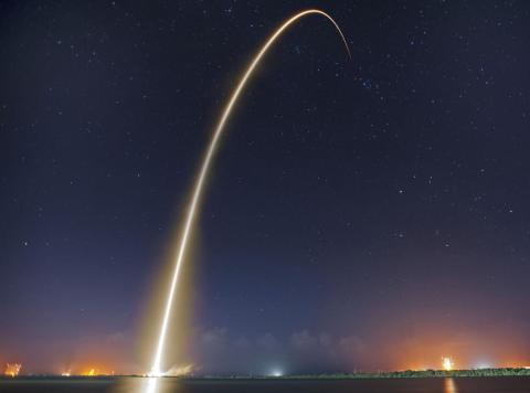 Un lanzamiento de SpaceX.