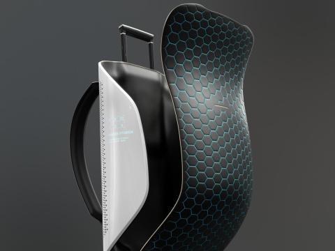 Las compañías de diseño de equipaje esperan unirse a la carrera espacial moderna. Horizn Studios quiere hacer esta maleta específicamente para viajes espaciales. Sería más ligero y flexible que cualquier otra maleta.