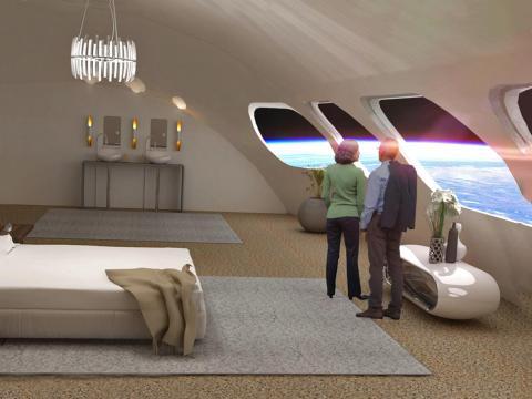 Una representación de la Estación Von Braun de la Fundación The Gateway.