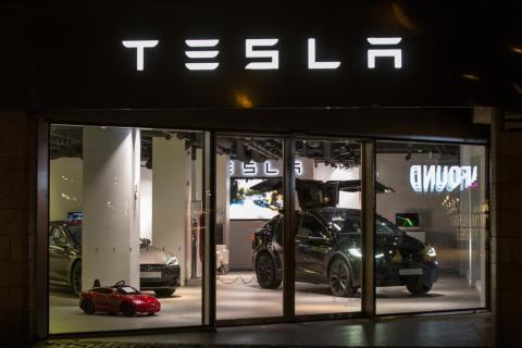 Una tienda de Tesla en Gothenburg