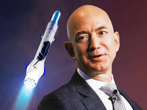 Jeff Bezos es el fundador de Blue Origin, una compañía de cohetes que está tratando de reducir drásticamente el costo del acceso al espacio.