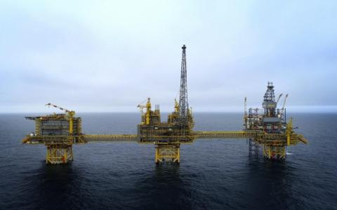 Una planta petrolífera de Total ubicada en el Mar del Norte