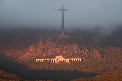 El Valle de los Caídos, en la mañana de la exhumación de Francisco Franco.