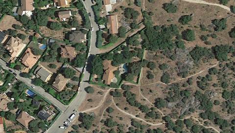 Vista aérea de la casa de Pablo Iglesias.