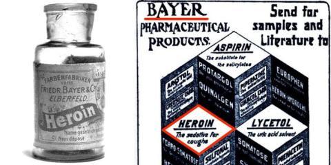 Bayer comercializó heroína para su uso en niños hasta 1912.