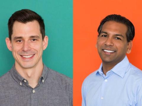 Los fundadores de Clover Health, Kris Gale et Vivek Garipalli.