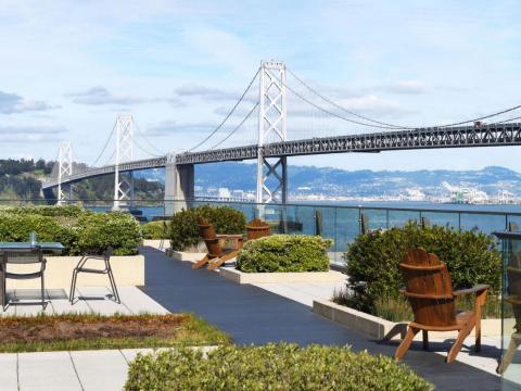 Una terraza en la oficina de Gap en San Francisco.
